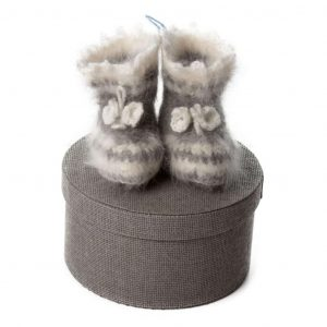 Goat Wool Baby Slippers - Malusik