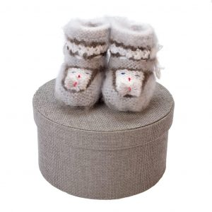 Wool Baby Booties - Mishonok