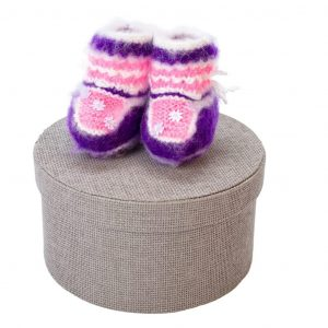 Wool baby slippers - Pineta